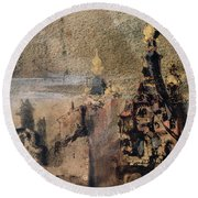 Memory Of Spain Round Beach Towel by Victor Hugo