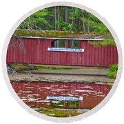 Memorytown Kissing Bridge Round Beach Towel