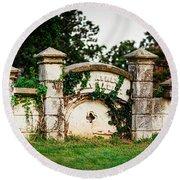 Memphis Elmwood Cemetery - Ayres Family Vault Round Beach Towel