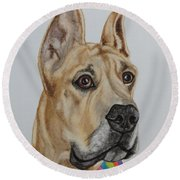 Memphis The Great Dane Round Beach Towel