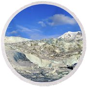 Mendenhall Glacier Round Beach Towel