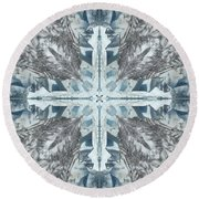 Mendenhall Glacier Cross Round Beach Towel