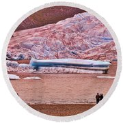 Mendenhall Glacier Juneau 2 Round Beach Towel