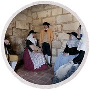 Menorquins Dress And Suit  Back In Time Xviii Century Round Beach Towel