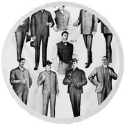 Men's Fashion, 1902 Round Beach Towel