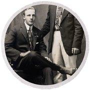 Men's Fashion, 1917 Round Beach Towel