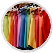 Mens Tuxedo Vests In A Rainbow Of Colors Round Beach Towel