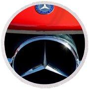 Mercedes-benz 300 Sl Grille Emblem Round Beach Towel