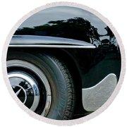 Mercedes-benz Wheel Emblem Round Beach Towel