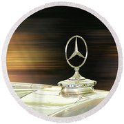 Mercedes Hood Ornament Round Beach Towel