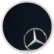 Mercedes Star On A Polished Hood Round Beach Towel