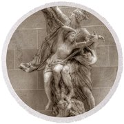 Mercury And Psyche Round Beach Towel
