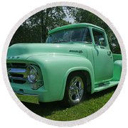 Mercury Pick Up Round Beach Towel