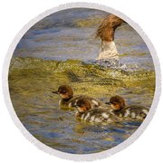 Merganser Lake Tahoe Round Beach Towel