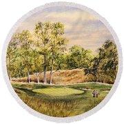 Merion Golf Club Round Beach Towel by Bill Holkham