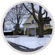 Merion Meeting House - Narberth Pa Round Beach Towel by Bill Cannon