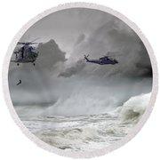Merlin Rescue Round Beach Towel