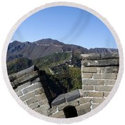 Merlon View From The Great Wall 726 Round Beach Towel