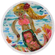Mermaid Mermaid Round Beach Towel