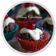 Merry Christmas - Puddings Round Beach Towel