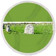 Merry Maidens Stone Circle Cornwall Round Beach Towel