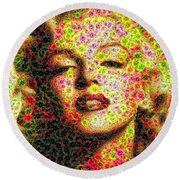 Marilyn - Colored Diamonds Round Beach Towel