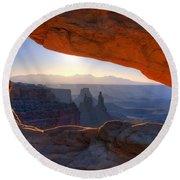 Mesa Arch Canyonlands National Park Round Beach Towel
