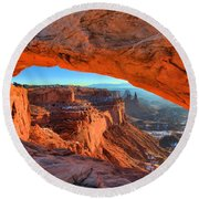 Mesa Sunrise Glow Round Beach Towel