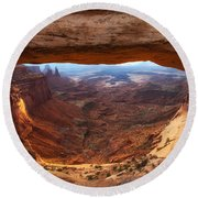 Mesa Sunrise Window Round Beach Towel