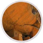 Mesa Verde Cliff Dwellings Round Beach Towel