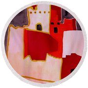 Mesa Verde Original Painting Sold Round Beach Towel