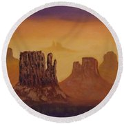 Mesas Round Beach Towel