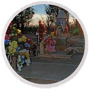 Mesilla Nm Cemetery 14  Round Beach Towel