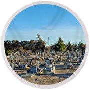 Mesilla Nm Cemetery 3   Round Beach Towel