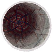 Mesmer By Jammer Round Beach Towel