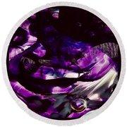 Mesmerize Purple Round Beach Towel