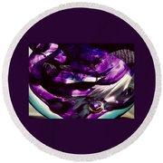 Mesmerize Purple II Round Beach Towel