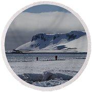 Mesmerizing Antarctica... Round Beach Towel