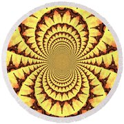 Mesmerizing Eiffel Tower Abstract Round Beach Towel