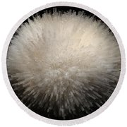 Mesolite And Fluoroapophyllite Round Beach Towel