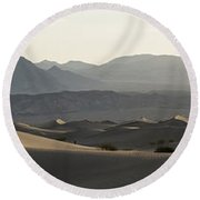 Mesquite Dunes Sunrise Round Beach Towel