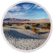 Mesquite Flat Dunes Round Beach Towel