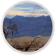 Mesquite Flat Sand Dunes Stovepipe Wells Death Valley Round Beach Towel