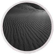 Mesquite Sand Dunes  Round Beach Towel