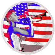 Mess Call Methodist  Service  At Camp Nathan Hale Southfields New York 1943-2014   Round Beach Towel