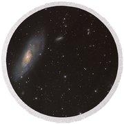 Messier 106 Spiral Galaxy Round Beach Towel