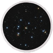 Messier 44, The Beehive Cluster Round Beach Towel