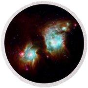 Messier 78 Star Formation Round Beach Towel