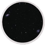 Messier 88 And Messier 91 Round Beach Towel