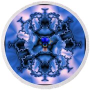 Messing With Mandelbrot  Round Beach Towel